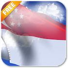 3D Singapore Flag Live Wallpaper icon