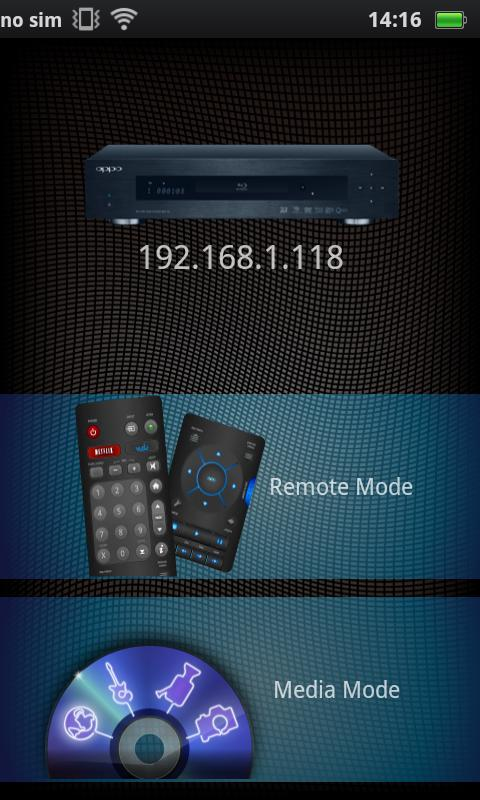 Media Control for OPPO BDP-9x - screenshot