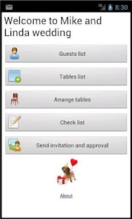 Weddings and events screenshot