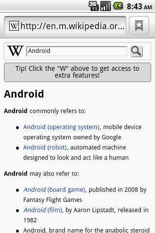 Wiki Search - screenshot