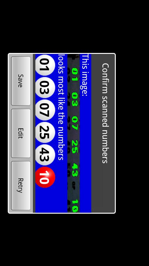 Powerball Scanner Lite- screenshot