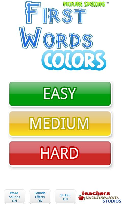 First Words Colors!- screenshot