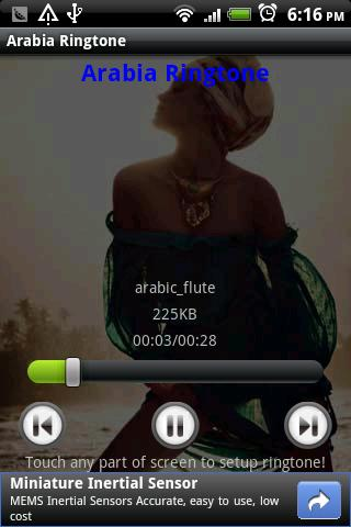 Arabia Ringtone - screenshot