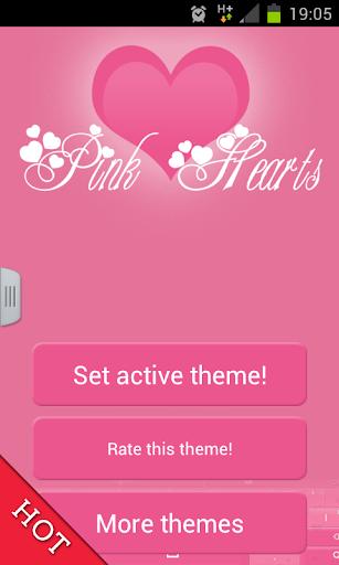 粉红色的键盘心GO