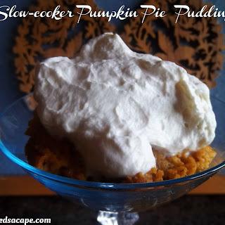 Slow- cooker Pumpkin Pie Pudding