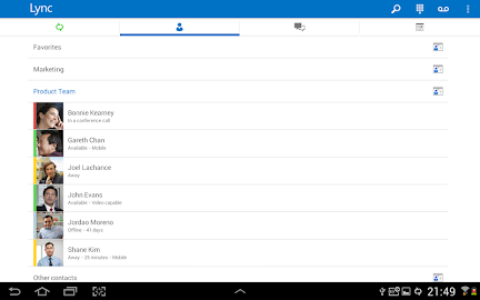 Skype for Business for Android Screenshot 19