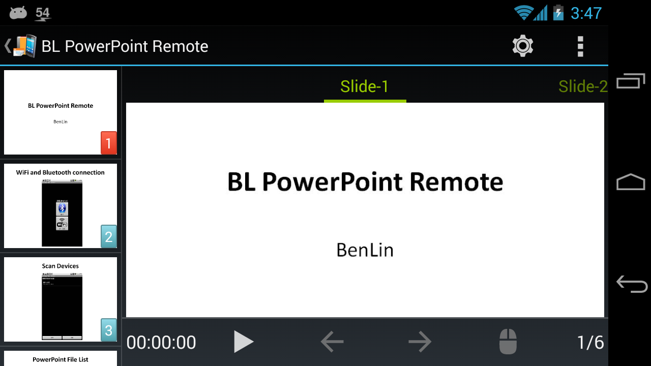 BL PowerPoint Remote- screenshot