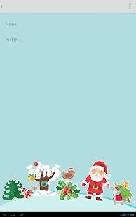 Free Christmas Budget