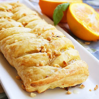 Orange Cheese Danish Pastry.