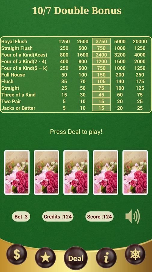 how to play double double bonus video poker