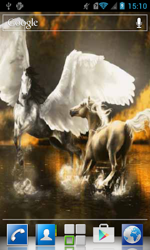 Two horses in water LWP