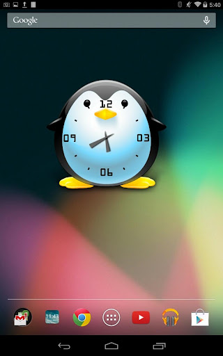 Penguin Clock Free Widget