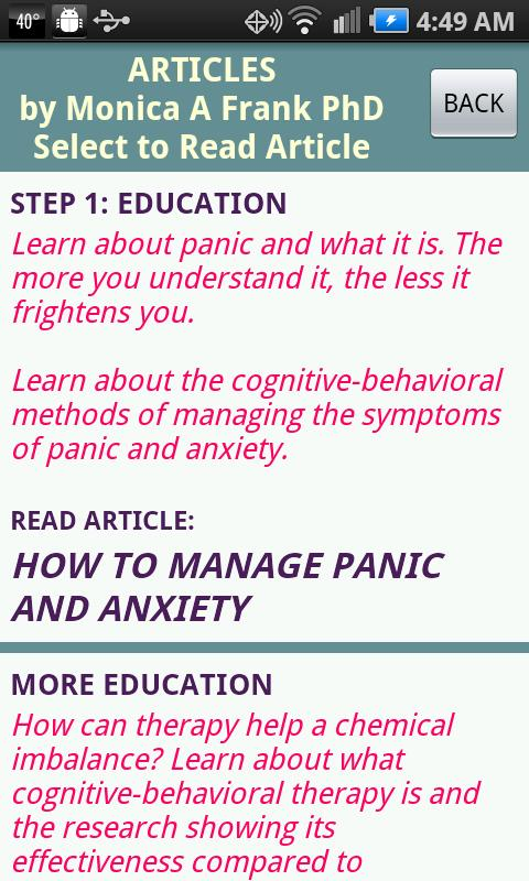 Stop Panic & Anxiety Self-Help - screenshot
