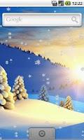 Screenshot of Snow Live Wallpaper FREE