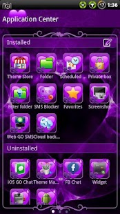 Valentines Purple GO SMS Theme- screenshot thumbnail