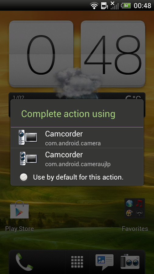 HTC EVO 3D Camcorder Button - screenshot