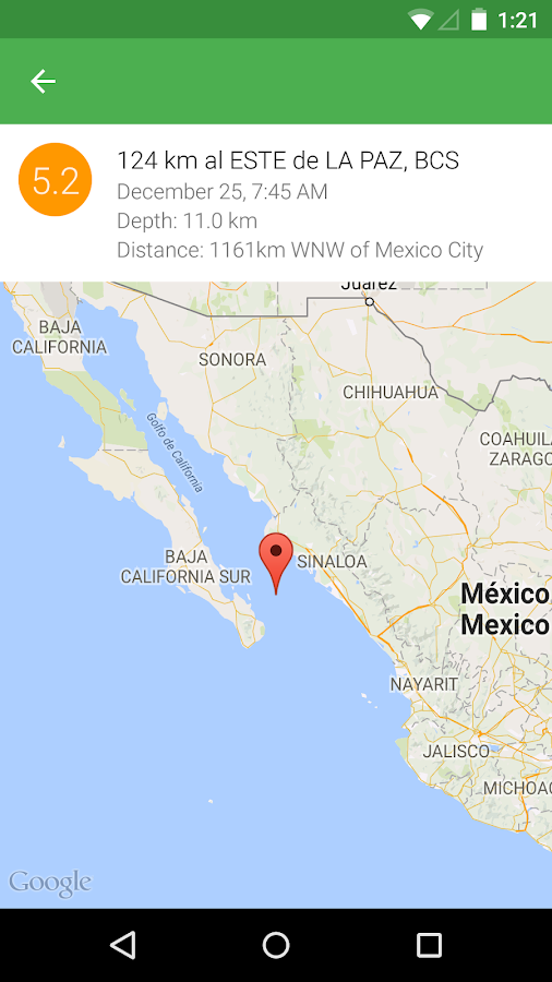 Earthquake Alert for Mexico - Android Apps on Google Play