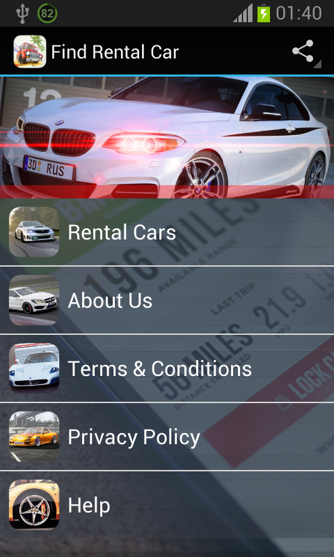 Find Rental Car - screenshot