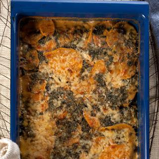 Kale and Sweet Potato Gratin