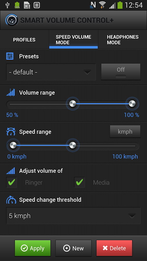 Smart Volume Control - screenshot