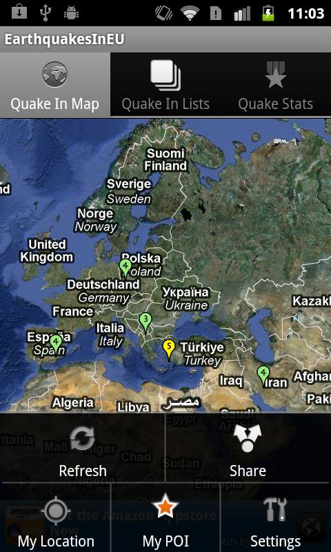 Earthquakes In Europe Regi - screenshot