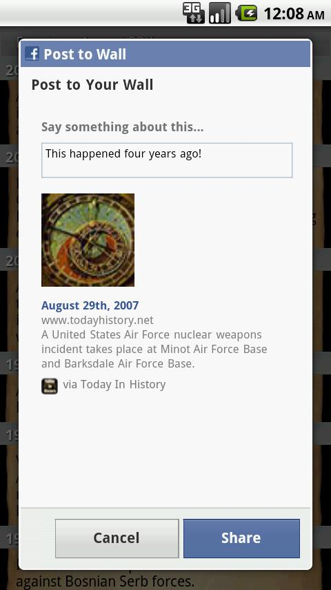 Today in History - screenshot