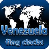 Venezuela flag clocks