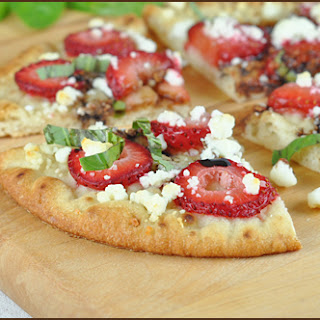 Strawberry & Goat Cheese Flatbread with Balsamic Syrup