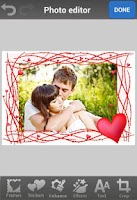 Screenshot of Heart Photo Frames & Stickers
