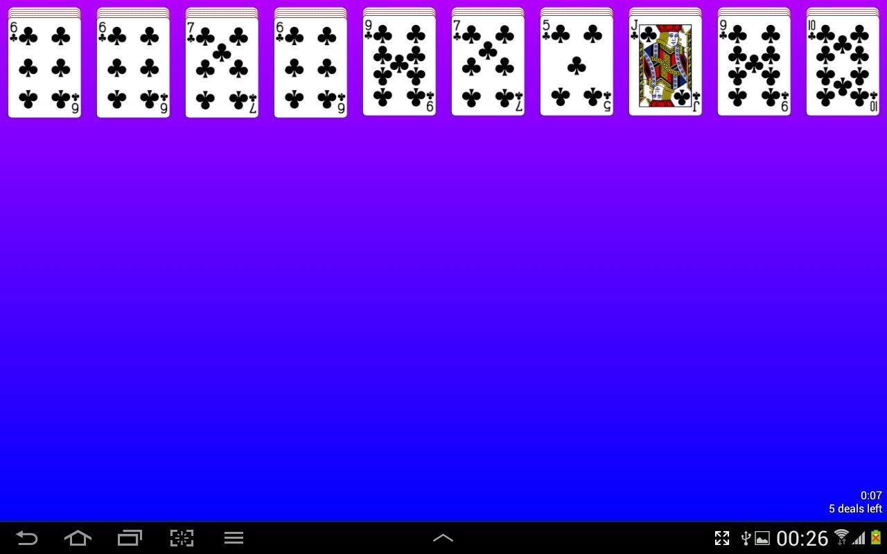 spider solitaire kartenspiel