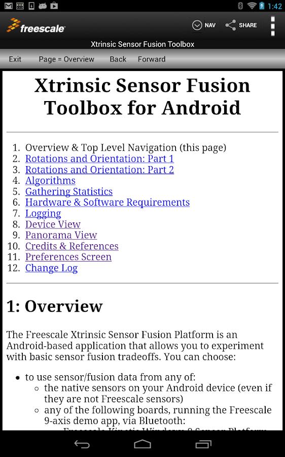 Sensor Fusion Toolbox - screenshot