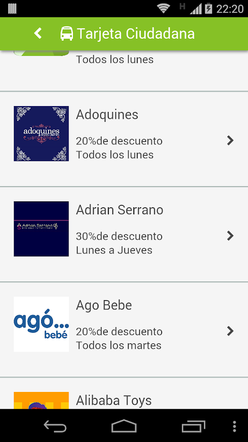Tarjeta Ciudadana - screenshot