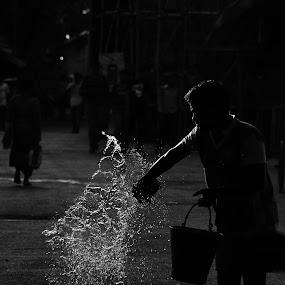 Splash by Souvik Kundu - Black & White Street & Candid ( splash, black and white, streets, photography )