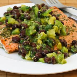 Wild Salmon Roasted in Olive Oil and Herbs.