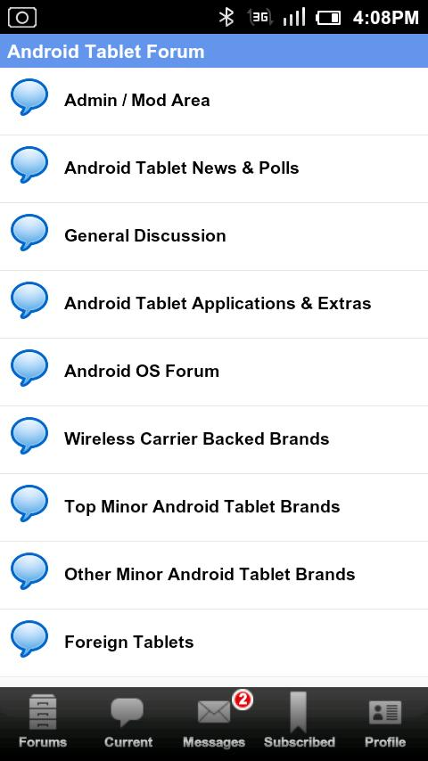 Android Tablet Forum - screenshot