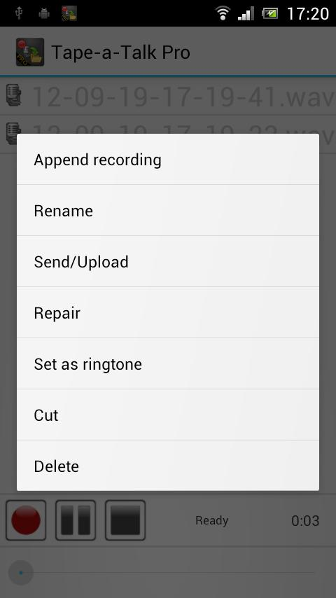 Tape-a-Talk Pro Voice Recorder - screenshot
