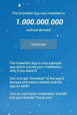 Die Schneeball App