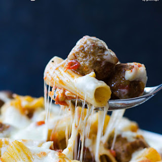 Cheesy Meatball Pasta Casserole