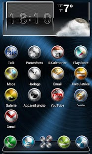 Next Launcher Theme Metal - screenshot thumbnail