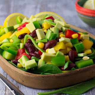Mexican Red Bean Salad with Avocado.