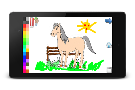 Coloring Book: Horses! FREE- screenshot thumbnail