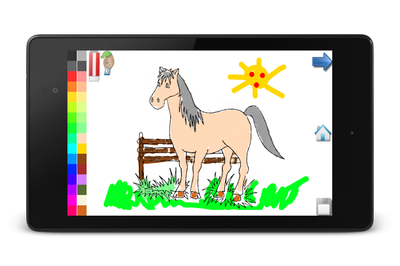 Coloring Book: Horses! FREE- screenshot