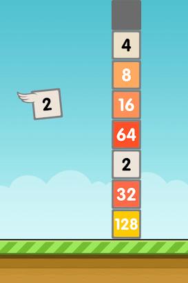Flappy 2048 - Endless Combat screenshot