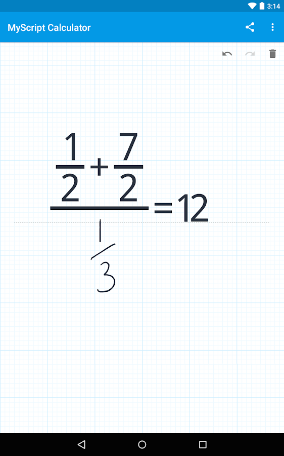 MyScript Calculator- screenshot