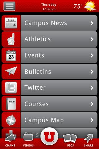 University of Utah- screenshot
