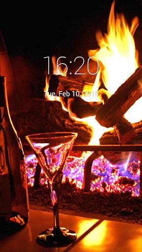 Fireplace Lock Screen