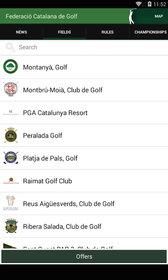 Catalan Golf Federation- screenshot