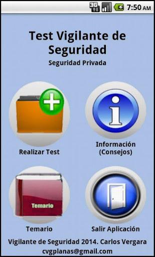 玩免費教育APP|下載Test Vigilante de Seguridad app不用錢|硬是要APP