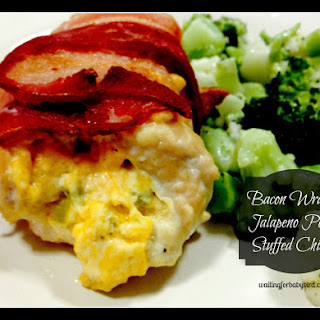 Low Carb Bacon Wrapped Jalapeno Popper Stuffed Chicken.