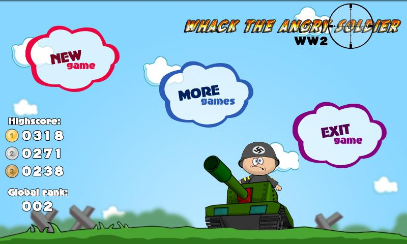 Whack the Angry Soldier WW2- screenshot